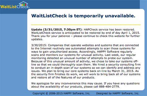 waitlistcheck section 8 waitlistcheck down for maintenance