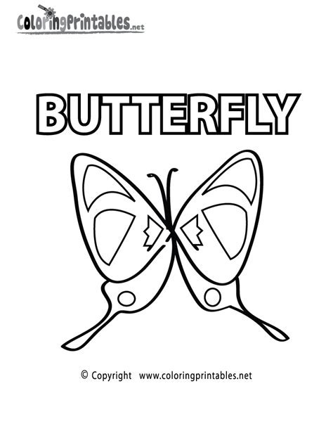 butterfly coloring page education com free knight words coloring pages