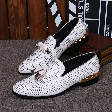 boat shoes for wedding white boat shoes men fashion bow diamonds evening party