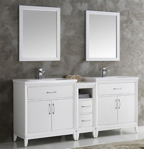 white bathroom vanity bathroom traditional with double fresca cambridge collection 72 quot white double sink
