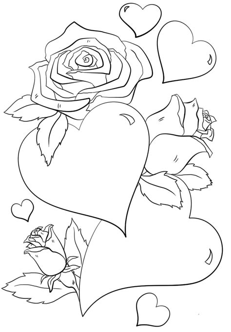 hearts and roses coloring pages printable 35 free printable heart coloring pages