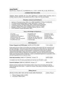 Licensed Practical Sle Resume by Sle Nursing Resume New Graduate Sle Resume Of