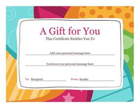 gift certificate template word certificates office