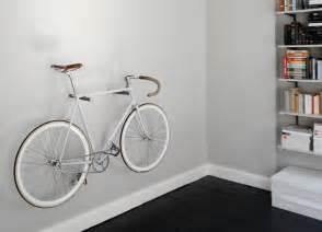 simple minimal wood peg bike storage rack bikerumor