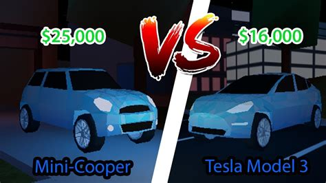 Jailbreak Mini roblox jailbreak tesla vs mini cooper you won t believe the results
