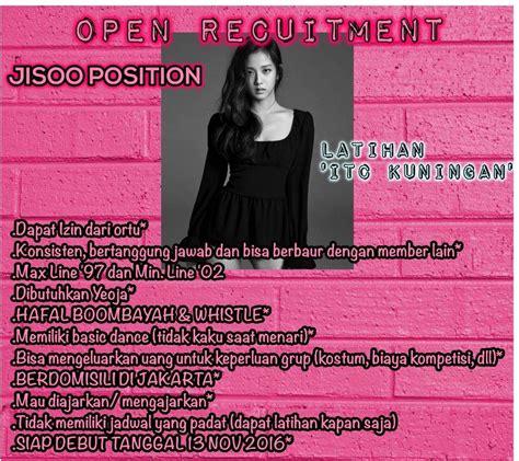 Blackpink Position | open recruitment for jisoo blackpink position k pop amino