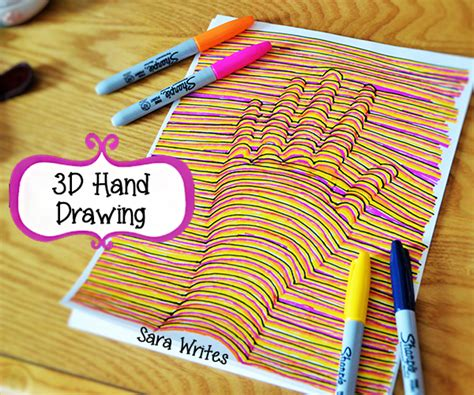 Cool Easy Things To Draw With Sharpie by Writes My 3d Drawing Pictorial