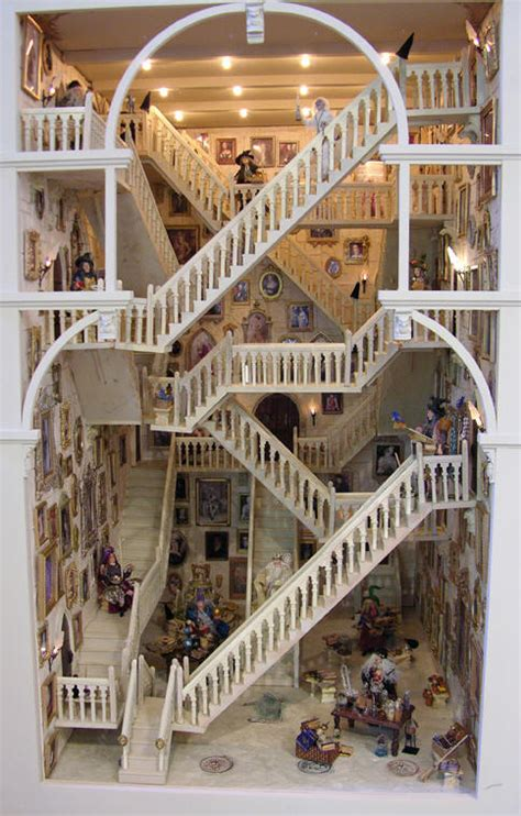 doll house illusion the hogwarts stairs in miniature