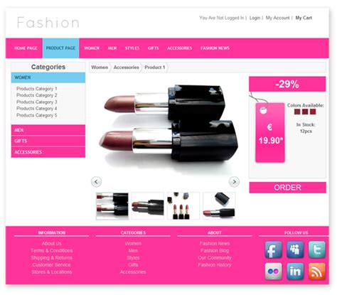 Fashion Store Template Templates Dmxzone Com Product Template