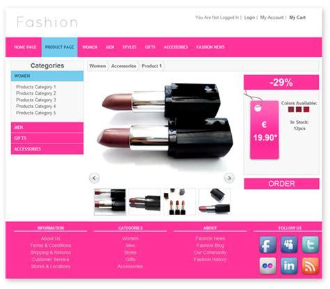 fashion store template templates dmxzone com