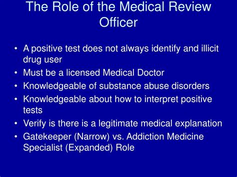 Detox Specialist Careers by Ppt The Review Officer An Addiction Medicine