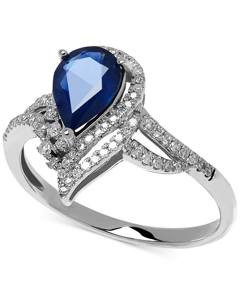 Blue Sapphire 5 0 Ct macy s sapphire 1 1 3 ct t w and 1 5 ct t w
