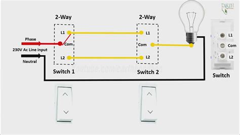 Wiring Diagram 2 Gang Way Light Switch Double Data New 1