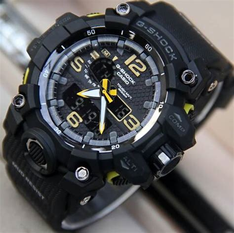Jam Tangan Swiss Navy 8930 Black Yellow Original jual jam tangan g shock gpw1000 mudmaster dualtime g shock