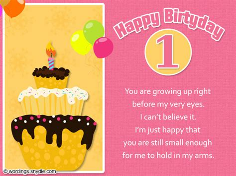 1st Birthday Sayings For Cards 1st Birthday Wishes Wordings And Messages