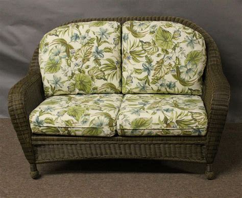 settee cushions outdoor outdoor wicker settee home pbg