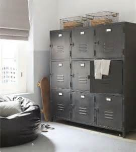 Black Bedroom Lockers Industrial Upcycling For Your Home