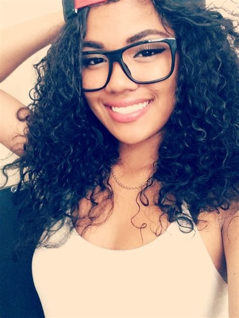 curly hairstyles glasses girl with a beautiful smile curly hair and spectacles