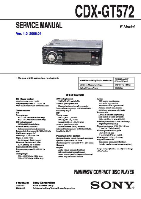 wiring diagram for sony cdx565up car stereo xplod wiring
