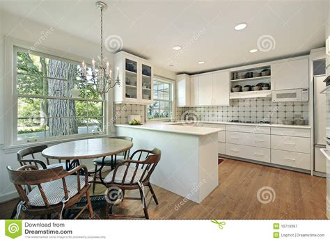 kitchen with eating area and island stock photography kitchen with eating area royalty free stock photography
