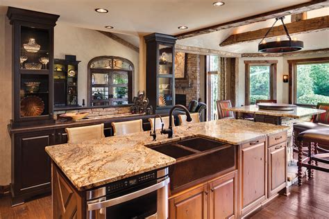 traditional kitchen backsplash rustic kitchen backsplash kitchen traditional with brown