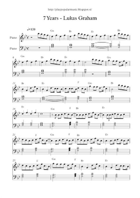 new year easy piano sheet play popular free piano sheet 7 years lukas