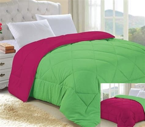 lime comforter lime green knockout pink reversible college comforter