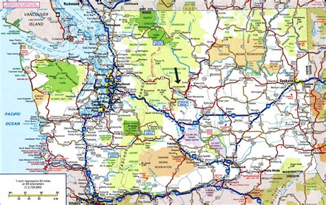 washington state map leavenworth wa