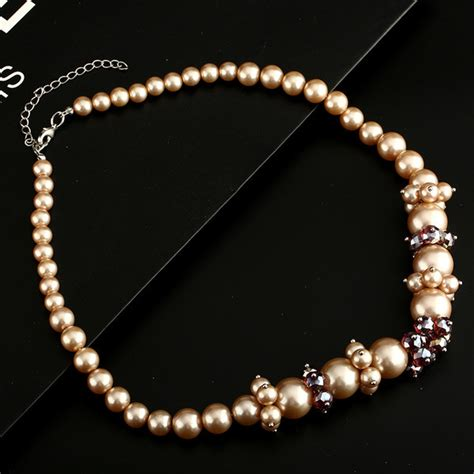 wholesale pearl bead prom necklace
