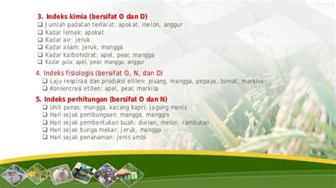 Pane Semburat Merah bahan draft perbenihan indikator panen hortikultura