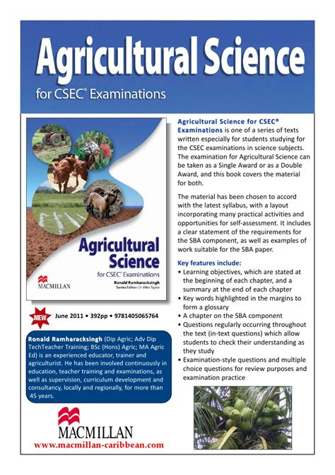 agricultural science agricultural science for csec examinations flyer by