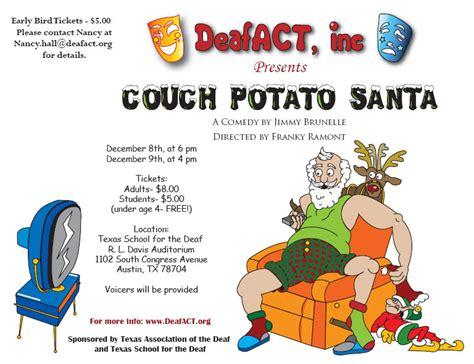 couch potato santa deafact presents couch potato santa austin deaf