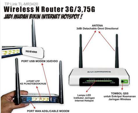 Router Wifi Yogyakarta tp link tl mr 3420 wireless router 3g membuat hotspot dengan mudah 171 toko komputer jogja