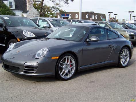 gray porsche 2009 meteor grey metallic porsche 911 carrera 4s coupe
