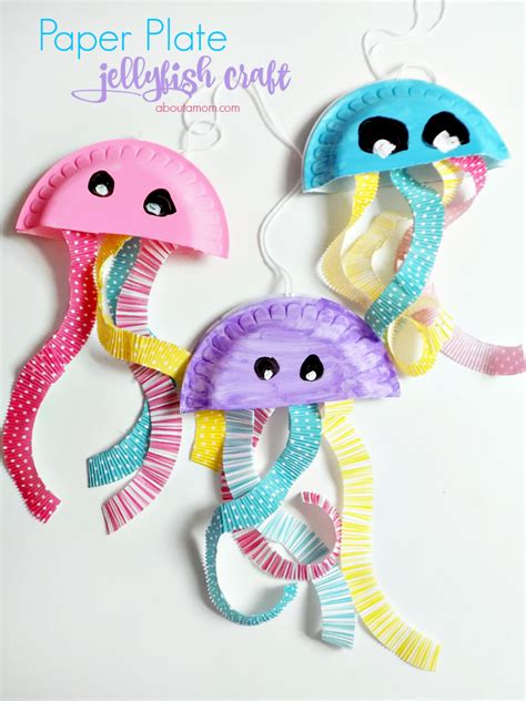 How To Make Jellyfish With Paper Plates - paper plate jellyfish craft summer series about a