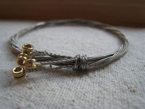 Etsy String - repurposed guitar string bracelet x small by offbeet on etsy