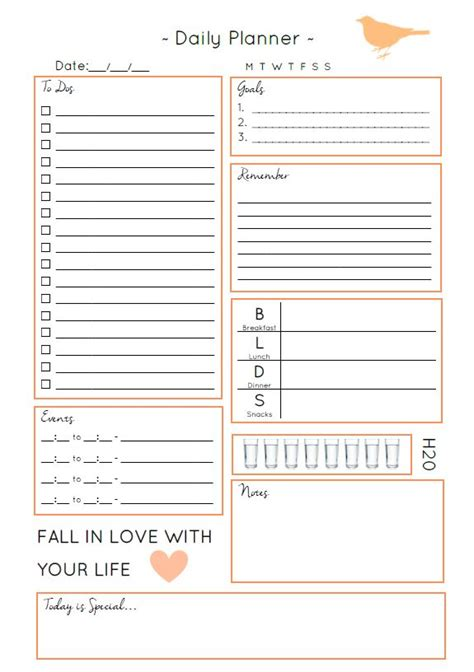 everyday planner printable free 1000 ideas about free planner on pinterest free
