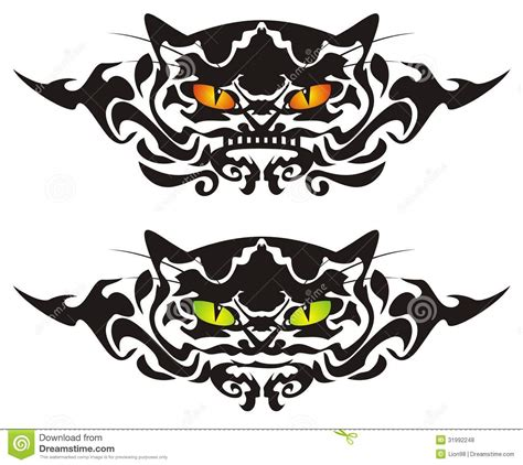 tattoo graphics online tribal cat eyes stock vector illustration of look design