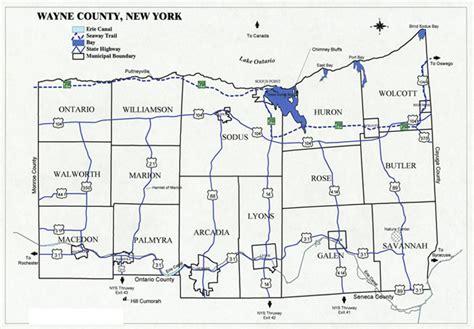 Wayne County Ny Records Map Of Wayne County New York Wayne County New York