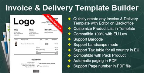 Woocommerce Invoice Delivery Builder Plugin Template Builder Plugin