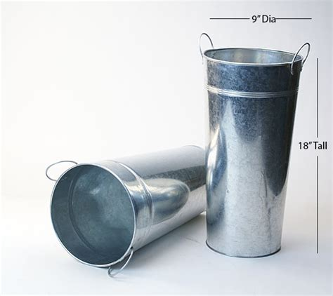 18 Inch Vases In Bulk by Wholesale Galvanized Containers All Shapes Sizes