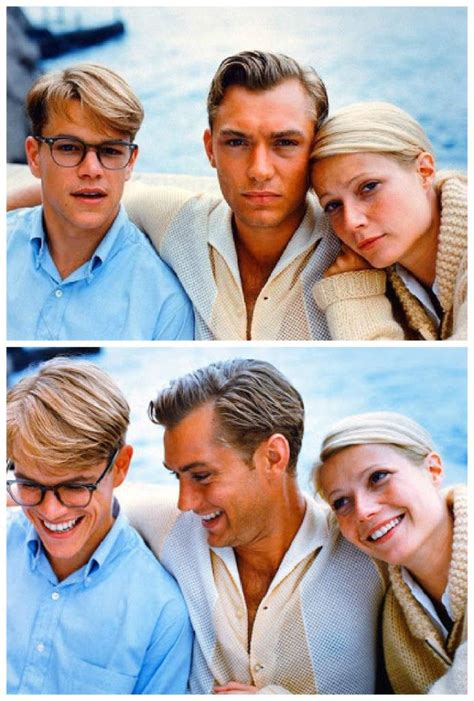 talented mr ripley matt damon gwyneth paltrow jude and matt damon in quot the talented