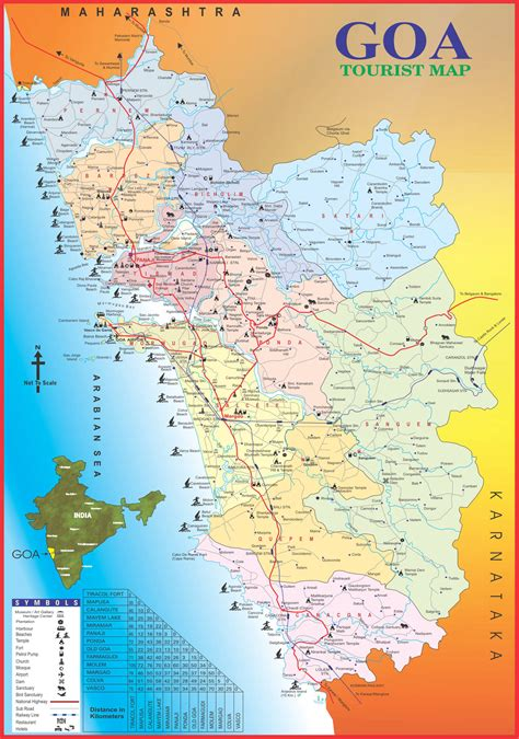 map images goa tourism others map of goa