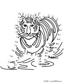 printable tiger dot to dot tiger dot to dot game coloring pages hellokids com