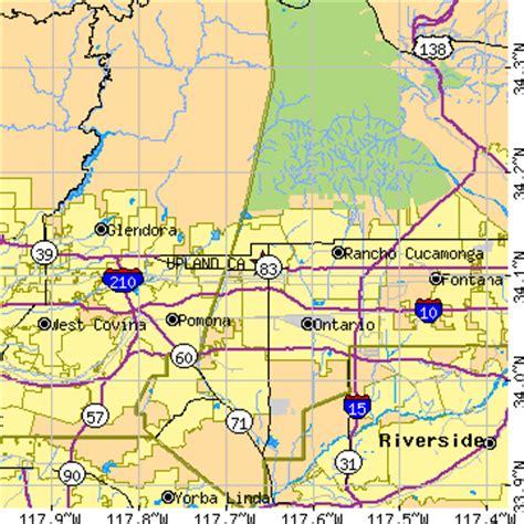 zip code map upland ca upland california ca population data races housing