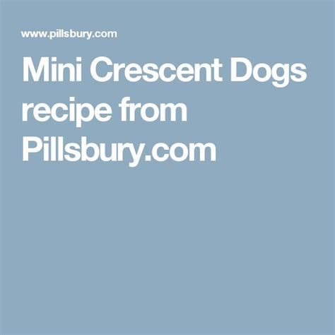 mini crescent dogs 107 best images about football on football food labels and dip station