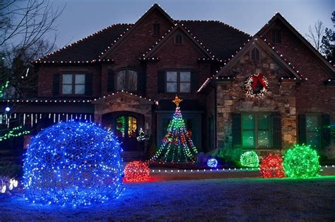 led light balls unique outdoor holiday decor eclectic