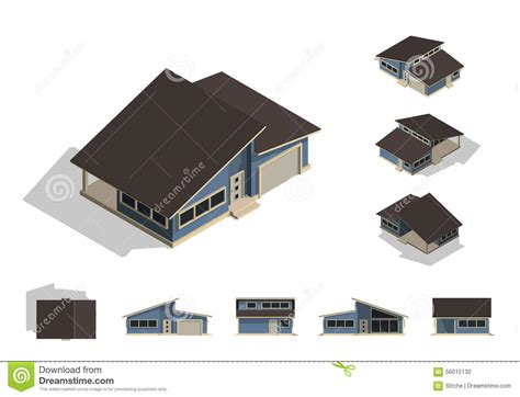 home design concept villeneuve loubet set of isolated house building kit creation detailed