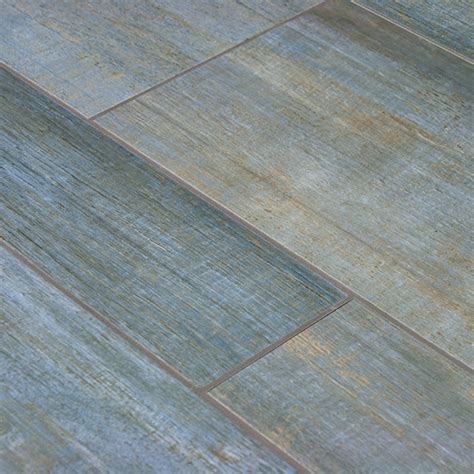 barrique blue wood plank porcelain wall