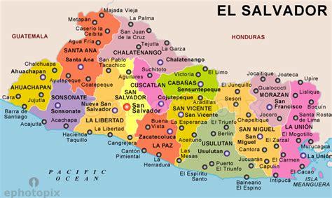america map el salvador el salvador political map political map of el salvador